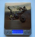 Старинный Гранатовый Гарнитур. Серебро, золото., фото №4