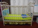 Кроватка детская Металлическая Geoby, фото №2
