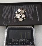 Браслет старинный серебро, фото №6