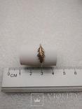 Кольцо серебро 925 перышко, фото №2