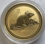 100 $ 1996 год Австралия лунар «Год Мышки» золото 31,1 грамм 999,9', фото №2