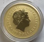 100 $ 1999 года Австралия лунар «Год Зайца» золото 31,1 грамм 999,9', фото №3
