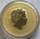 100 $ 2001 года Австралия лунар «Год Змеи» золото 31,1 грамм 999,9', фото №3