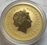 100 $ 2007 года Австралия лунар «Год Свиньи» золото 31,1 грамм 999,9', фото №3