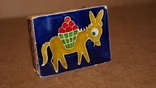 Спичечница на 2 коробка Ослик ,керамика, фото №7