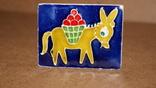 Спичечница на 2 коробка Ослик ,керамика, фото №2