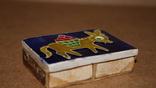 Спичечница на 2 коробка Ослик ,керамика, фото №8