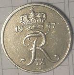 Дания 10 эре 1967, фото №3