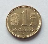 Испания 1 песета 1980 года, фото №2