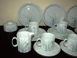 Сервиз чайник блюдца чашки тарелки сахарница тонкий фарфор Rosenthal Розенталь Германия, фото №3