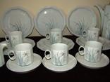 Сервиз чайник блюдца чашки тарелки сахарница тонкий фарфор Rosenthal Розенталь Германия, фото №7