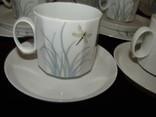 Сервиз чайник блюдца чашки тарелки сахарница тонкий фарфор Rosenthal Розенталь Германия, фото №10