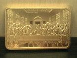 ИИСУС - тайная вечеря  сувенирный слиток, фото №2