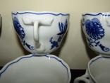 Чашки мейсенский дизайн фарфор синий лук Zwiebelmuster Богемия, фото №8