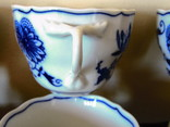 Чашки мейсенский дизайн фарфор синий лук Zwiebelmuster Богемия, фото №9
