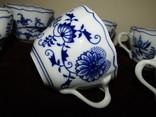 Чашки мейсенский дизайн фарфор синий лук Zwiebelmuster Богемия, фото №12