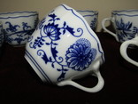 Чашки мейсенский дизайн фарфор синий лук Zwiebelmuster Богемия, фото №13