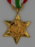 Великобритания. Медаль. Итальянская звезда. Миниатюра.