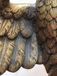 Фигура Бронза птица орёл Верхушка на каминные часы, фото №5