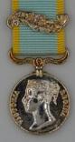 Великобритания. Медаль. Крымская медаль. Миниатюра.