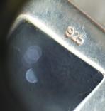 Кулон подвеска серебро 925 янтарь, фото №6