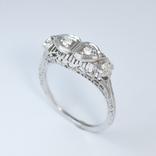 Ажурное золотое кольцо с бриллиантами, фото №2