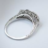 Ажурное золотое кольцо с бриллиантами, фото №3