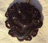 Кулон резной черепаховый панцирь., фото №9