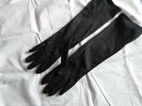 Перчатки черные дамские, фото №2