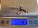 Крестик нательный. Серебро 925 проба. Много камней., фото №10