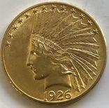 10 $ 1926 год США золото 16,7 грамм 900', фото №2