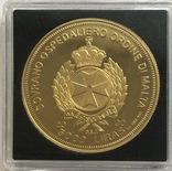 5000 лир 1997 год Ордине ди Мальта золото 31,1 грамм 999,9', фото №3