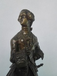 Бронзовая скульптура короля Людовика XV фото 2