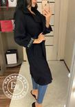 Стильное кашемировое пальто черное 46 размер, фото №3