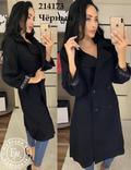 Стильное кашемировое пальто черное 46 размер, фото №4