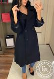 Стильное кашемировое пальто черное 46 размер, фото №6