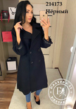 Стильное кашемировое пальто черное 46 размер, фото №7
