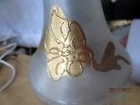 Винтажная бутылка хрусталь металл позолота маркировка, фото №3