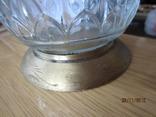 Винтажная бутылка хрусталь металл позолота маркировка, фото №5