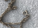 Серебряный крест с перламутром на цепочке (серебро 950 пр, вес 7 гр), фото №8