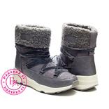 Серые зимние ботинки, полусапожки, угги на меху 37 размер, фото №3