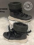 Серые зимние ботинки, полусапожки, угги на меху 37 размер, фото №5