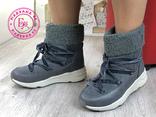 Серые зимние ботинки, полусапожки, угги на меху 37 размер, фото №7