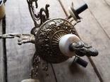Люстра бронза мрамор гранит винтаж СССР, фото №5