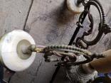 Люстра бронза мрамор гранит винтаж СССР, фото №10
