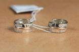 Серьги серебро, золото, фото №2