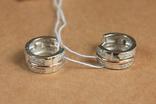 Серьги серебро, золото, фото №4