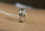 Серьги серебро, золото, фото №8