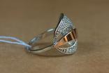 Кольцо серебро, золото, фото №2