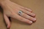 Кольцо серебро, золото, фото №8
